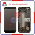 high quality For IPhone 5 5G Full Housing Assembly Back Cover Battery with Sim Card Tray + Buttons+ Flex Cables
