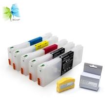 T6121-T6124 350ml Empty refill Ink Cartridge For Epson Stylus Pro 7400 9400 printer + free chip resetter