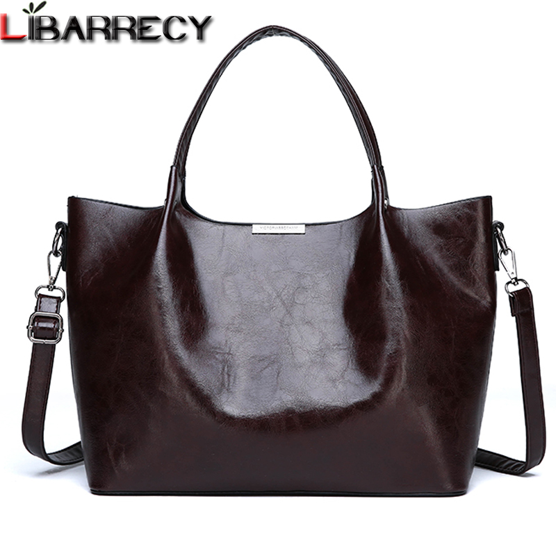 8629461de42 US $22.98 45% OFF|Famous Brand Leather Women Handbags Large Capacity Women  Tote Bag Fashion Shoulder Bag Female Designer Crossbody Bags for Girls-in  ...