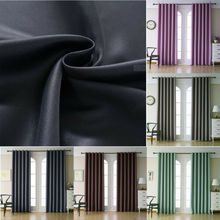 Home Textile 2PC Blackout Grommet Window Curtain Thermal Curtains Ready Made Eyelet
