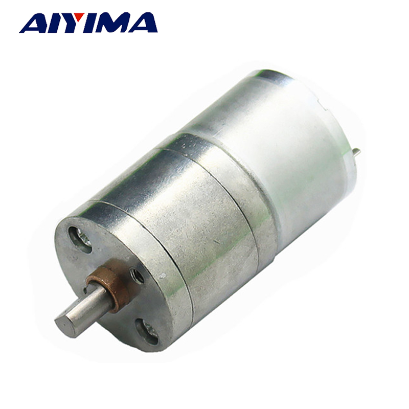 Aiyima All New 310 DC Micro Motor 12V Gear Motor Low Speed High Torque Low Noise Totally Enclosed Pass Technical Testing цена