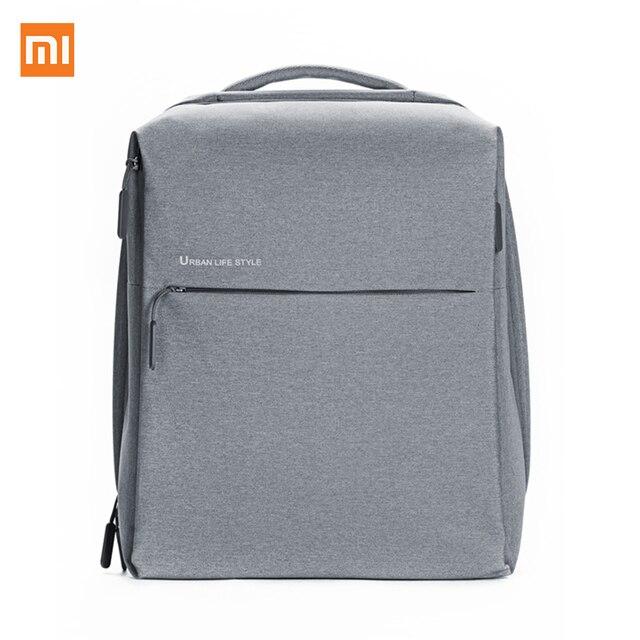 "Xiaomi mi Unisex impermeable mi nimalist Durable ocio mochila de viaje estilo urbano mochila para ordenador portátil dentro de Tamao máximo 14"""