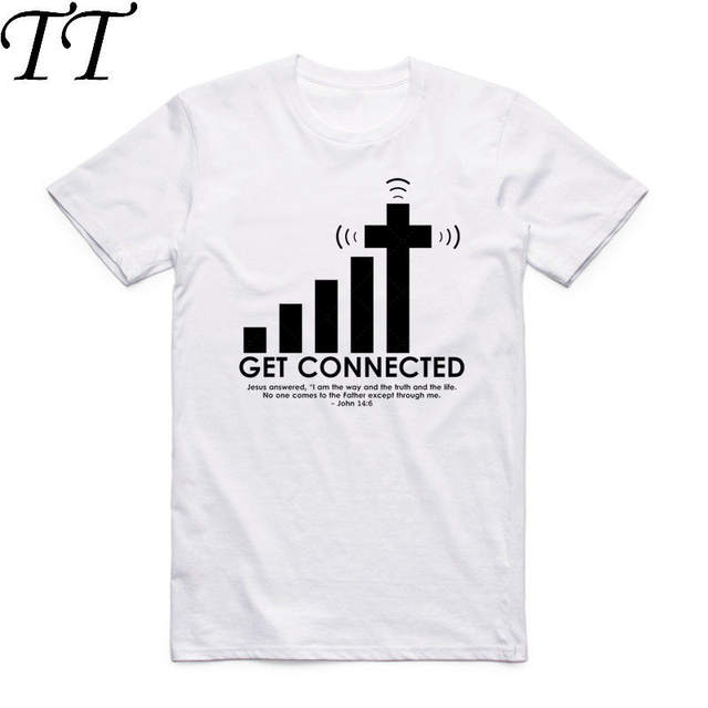 2019 Men And Women Print Get Connected To Jesus Funny T Shirt O-Neck Short Sleeve Summer Casual T-shirt Camisetas Hombre HCP924