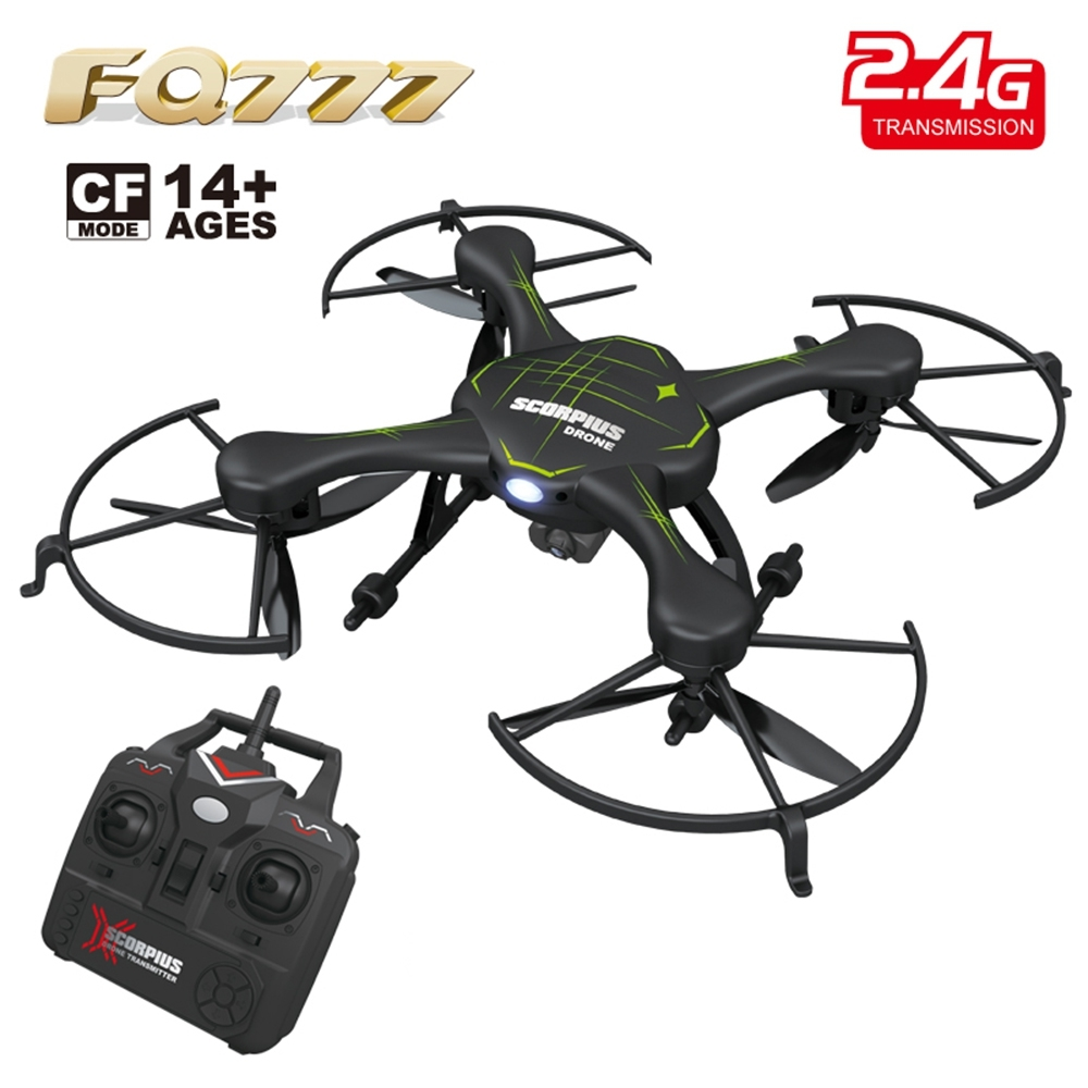 FQ777 955C RC Drones with 2MP Camera 2.4G 4CH 6-Axis Gyro RTF RC Quadcopter CF Mode Drone Dron 3D Unlimited Eversion Helicopter