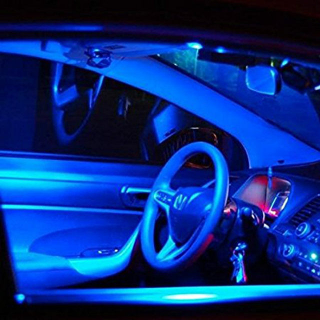6pcs For Honda Civic Acura RDX Hyundai Accent Santa Fe Infiniti FX35 Toyota  4R Ice Blue Lights Interior Package