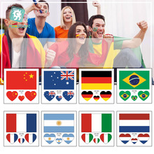 2019 French Womens Football World Cup,France, England, Scotland, Norway, Sweden, Germany, Italy, Spain, Flag Temporary Tattoo.