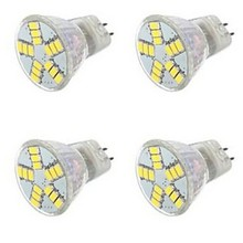 цена на HRSOD 5X GU4(MR11) 4W 15 SMD 5630 420 LM Warm White / Cold White MR11 LED Spotlight  12 V