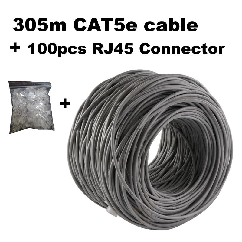 Network Cable CAT5e 305 meters RJ45 Connector 100pcs