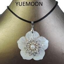 100% натуральный пресноводный жемчуг ожерелье с подвеской цепочка