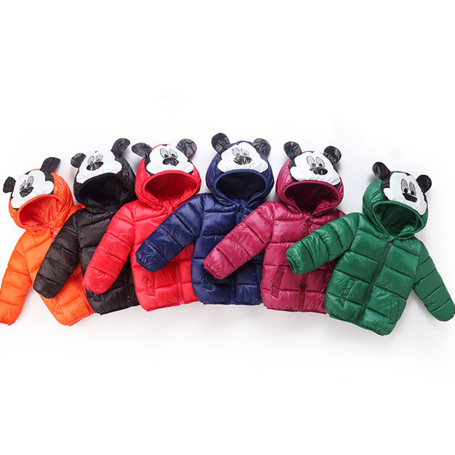 Special Price 3-7Y Cartoon Children's Winter Jackets Kids Down cotton Coat Baby Jacket for Girls Parka Outerwear Hoodies Boy Coat