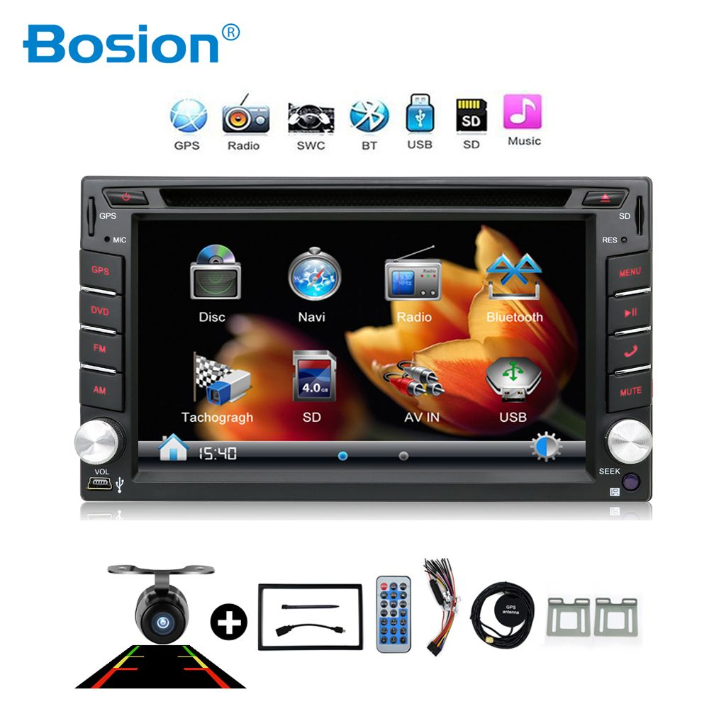 2din New universal Car Radio Double 2 din Car DVD Player GPS Navigation In dash Car PC Stereo video Free Map Car Electronics цена