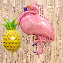 Birthday Balloons Flamingo Pineapple Foil Balloon Birthday Decoration Kids Adult Party Beach Party Helium Air Globos(China)