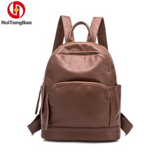 Women Fashion PU Leather Shoulder Mini Bag Schoolbag Mochila Bagpack School Bags For Girls Laptop Travel Backpack Back Pack цена