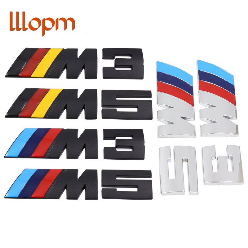 New Mpower M-tech on Car Trunk Badge Emblem 3D Pure Metal Front Hood Grille Sticker logo///M M3 M5 for BMW Car Styling Sticker m motorsport m power car front hood grille emblem led light for bmw universal