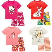 2019 Girls Cartoon Pijamas Kids Pyjamas Children Pajamas Clothing Set Short Sleeve Sleepwear Pajama Sets