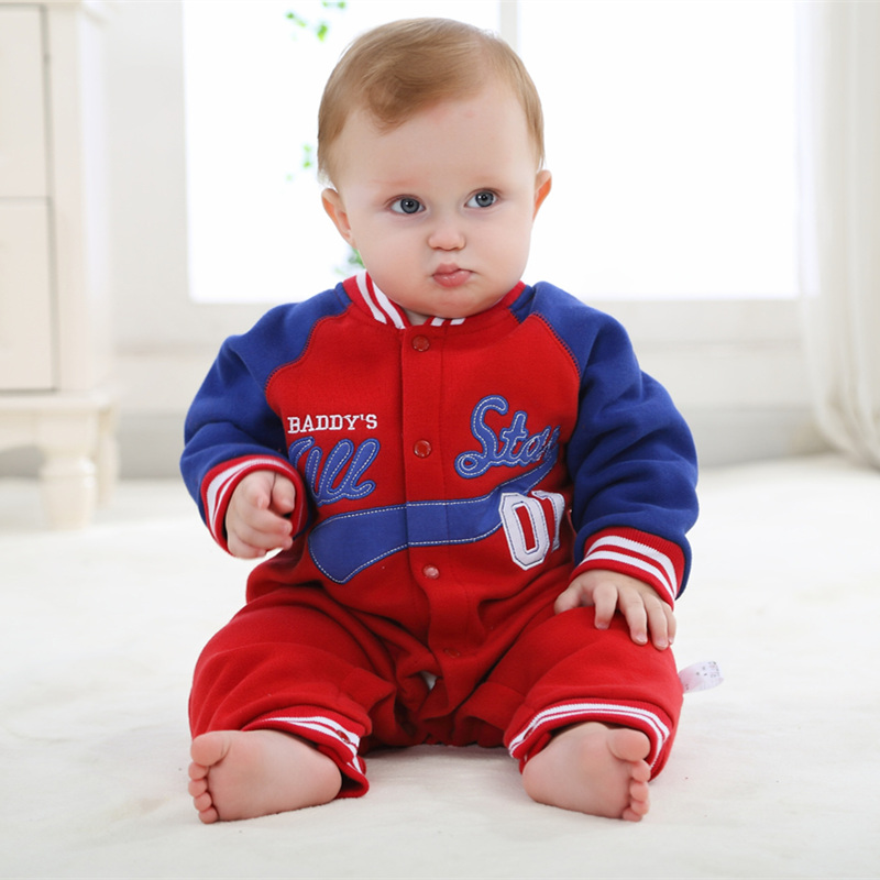 2017 Autumn winter Baby rompers Newborn Cotton tracksuit Clothing Baby Long Sleeve Infant Boys Girls jumpsuit boys clothes baby rompers cotton long sleeve 0 24m baby clothing for newborn baby captain clothes boys clothes ropa bebes jumpsuit custume