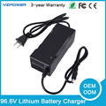EV Charger 96.6V 1A 1.5A Lithium Ion Battery Charger 84V Polymer Battery Car Bike Charger