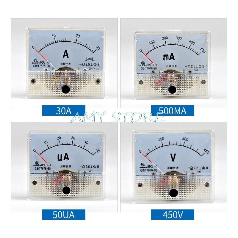 dc analog meter panel 0 500ma amp current ammeters 85c1 0. Black Bedroom Furniture Sets. Home Design Ideas