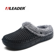 2017 Winter Warm Slippers Women&Men Shoes Indoor Cotton Pantoffels Casual Croc Clogs With Fur Easy On/Off House Floor Slippers