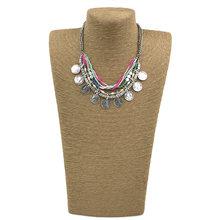 Новинка массивное металлическое колье ожерелье с кружевными