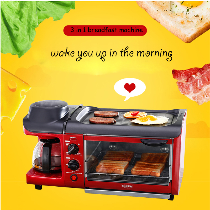 Breakfast Machine Bread Baking Maker  Bread Toaster /Fried Egg/ Coffee Cooker  Multifuntion Breakfast Machine 110/220V   tsk-28 dmwd mini household bread maker electrical toaster cake cooker 2 slices pieces automatic breakfast toasting baking machine eu us