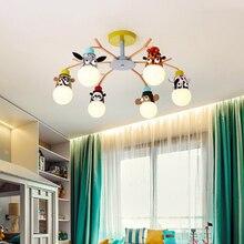 Moderno led lustres luminárias sobrecarga luzes para casa crianças quarto bebê meninos meninas crianças princesa lustre lâmpada