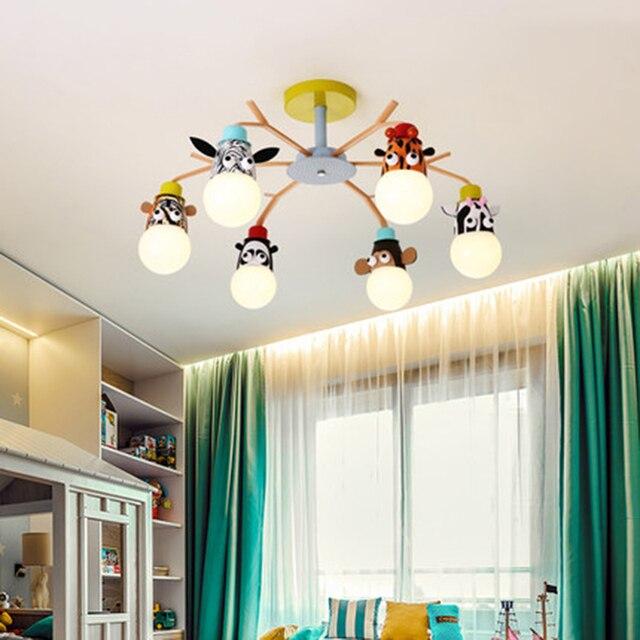 현대 led 샹들리에 비품 오버 헤드 조명 홈 어린이 룸 아기 소년 소녀 침실 키즈 공주 샹들리에 램프
