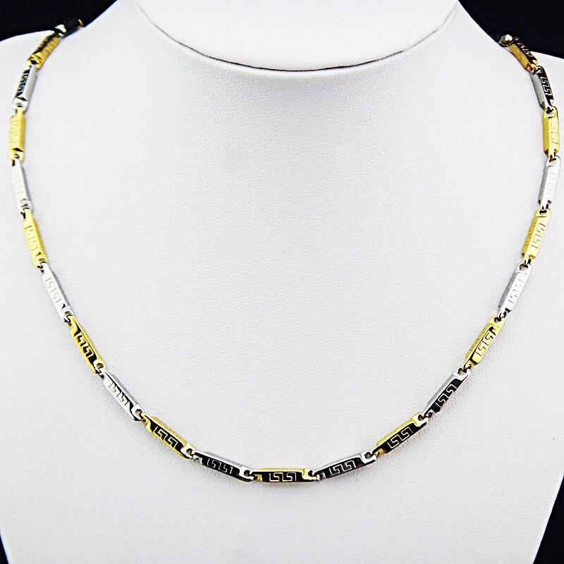 Горячая Распродажа шармы 316L нержавеющая сталь женское мужское ожерелье для костюма модные золотые серебряные ювелирные изделия A-816 - Окраска металла: J