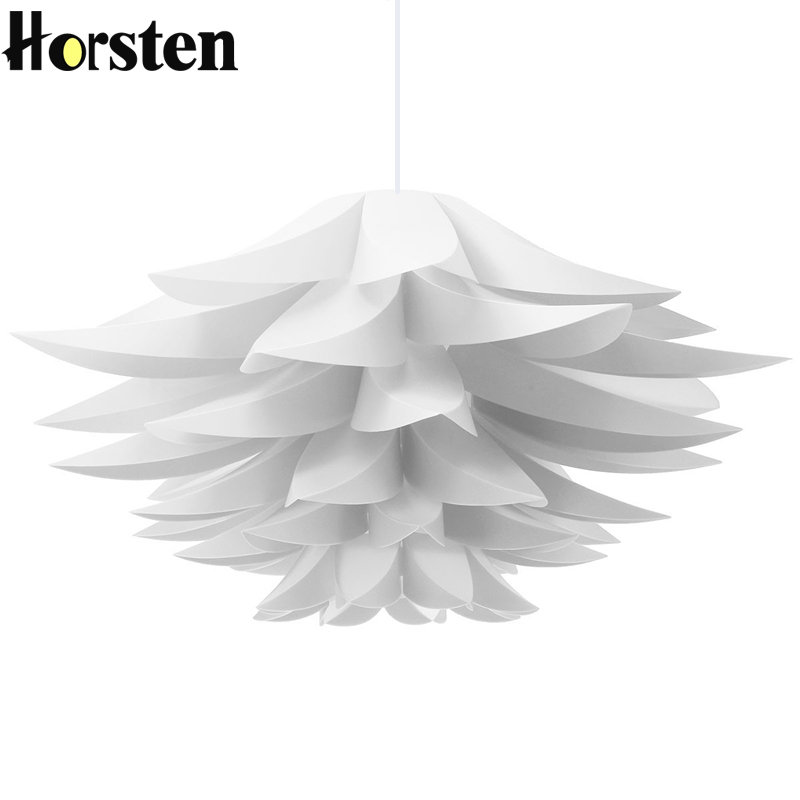 Horsten DIY Kit Lotus IQ Pendant Lampshade Suspension Pendant Light Hanging Lamp For Living Room Bedroom Study Dining Room Hotel magic creative novelty diy iq puzzle pp pumpkin pendant light for living room bedroom dining room deco dia 45cm 1956