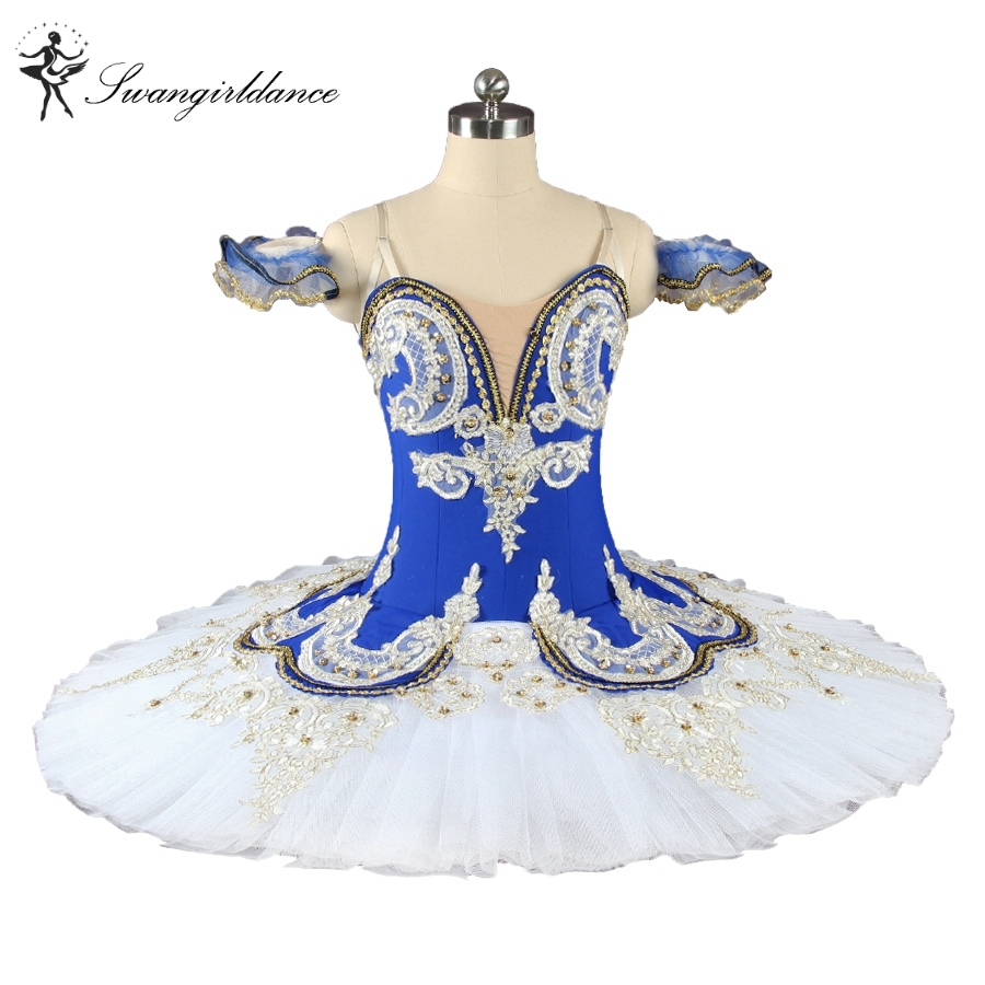 Adult blue bird ballet  professional stage tutu ,blue and white  Classical Ballet, Performance Costume Customized  BT9044