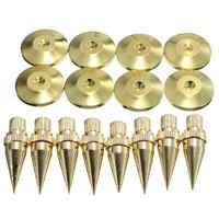 8 sets M6 * 36 Goldene Lautsprecher Isolation Spike Hohe Qualität Kupfer Isolation Kegel Stehen Füße + Basis Pads Boden discs Mayitr