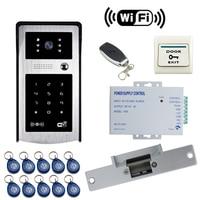 JEX Smart Wifi Video Door Phone Doorbell Kit Remote Control Unlock 720P COMS Waterproof Camera Free