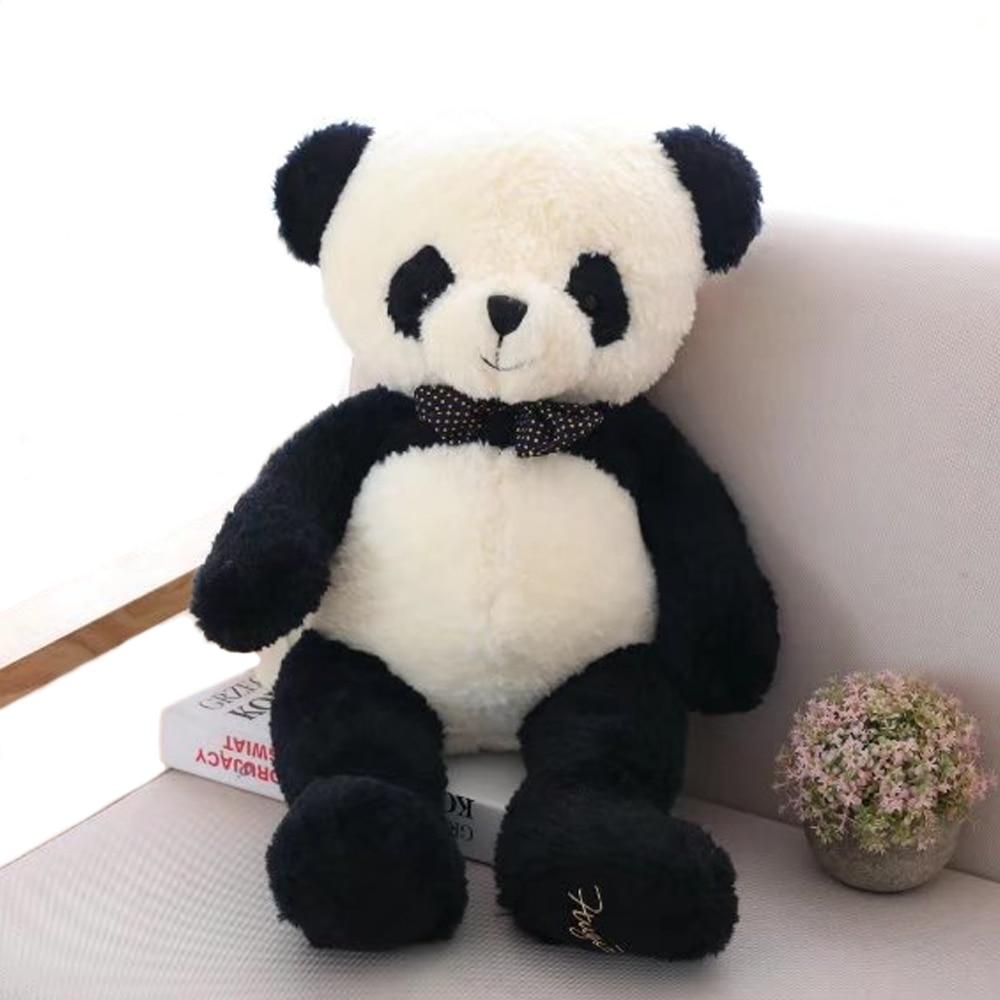 1pc 80cm Lovely Panda Plush Toys Stuffed Soft Cartoon Animal Doll Cute Bear Gift for Children Kids Baby Girls Valentine's Gift 1pc oversize huge 80cm funny stuffed simulated panda toy giant filling panda plush doll nice gift and decoration