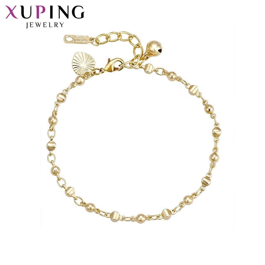 11,11 сделок Xuping Мода элегантный браслет светло-желтого золота Цвет для Для женщин Рождество подарки Ювелирные изделия S65-73825