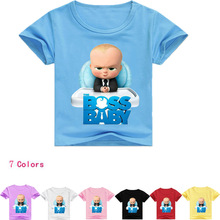 DLF 2-16Y Fashion Boss Baby Clothes Children T Shirts For Girl Top Cartoon Boy Short Sleeve Tshirt Kids Summer Nova