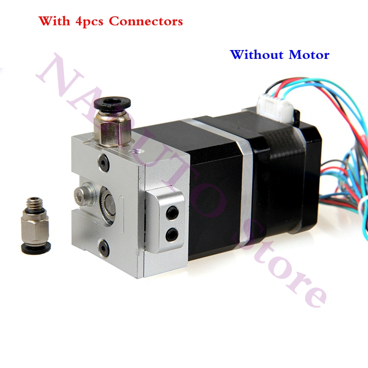 3D Printer All Metal Bulldog extruder Aluminum Alloy Parts for Both 1.75/3.0mm E3D/ J-Head/ MK8 Extruder Use, Without Motor robotdigg bulldog extruder