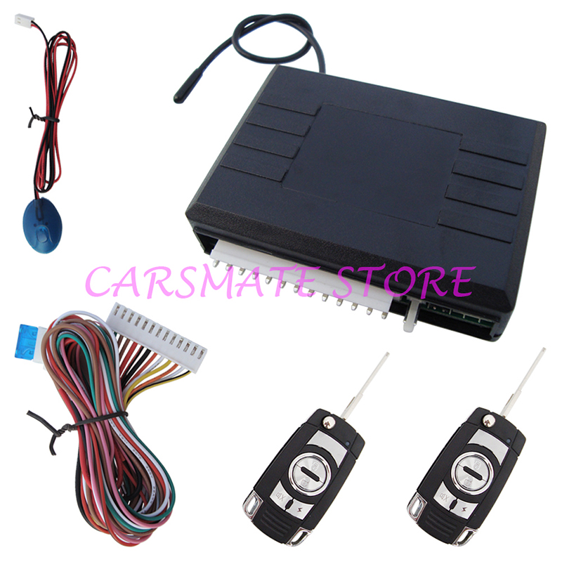 Car Door Unlock Kit >> Car Remote Keyless Entry System LED Light Remote Lock Unlock Trunk Release W Flip Key Remote ...