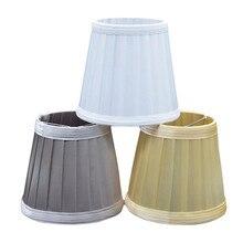 Tela Vintage plisada Tulipa mesa escritorio lámpara cubierta soporte para lámpara E27 portalámparas proteger los ojos de los niños