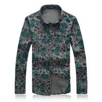 Luxury Long Sleeve Shirts Men 2017 Formal Dress Shirt Male M 6XL 7XL Plus Size