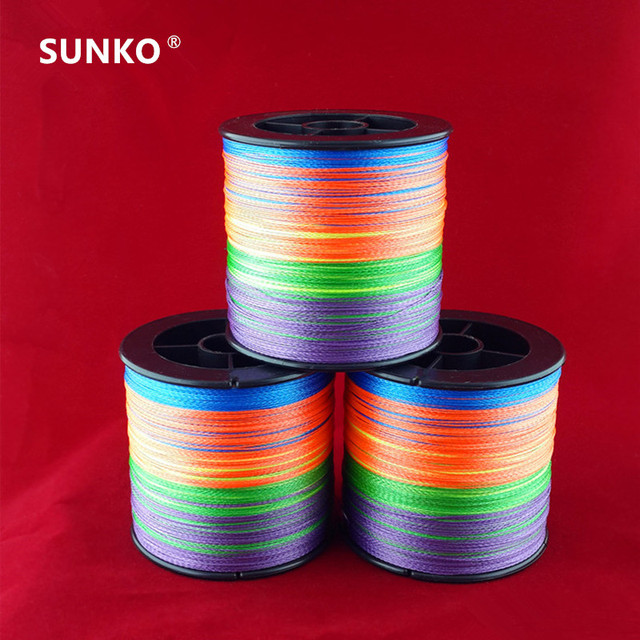 Enough 300M SUNKO Brand 8 10 20 30 40 50 60 70LB Super Strong Japanese colorful Multifilament PE Material Braided Fishing Line