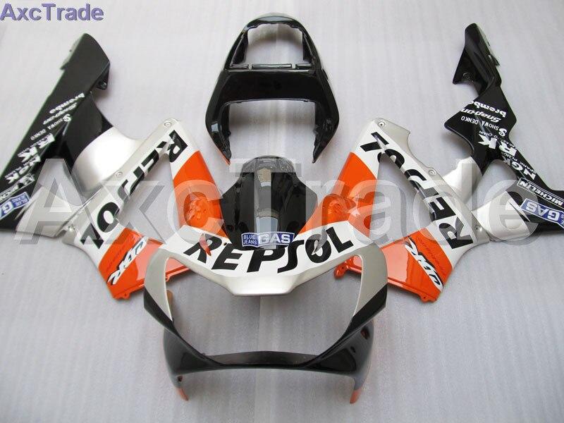 Moto Motorcycle Fairing Kit For Honda CBR 929 900 RR 929RR 00 01 900 2000 2001 CBR900RR ABS Plastic Fairings fairing-kit Orange motorcycle part black for honda cbr 900rr 929rr 954rr motorcycle fairing bolts kit aluminum spike cbr 929 rr cbr 954 rr