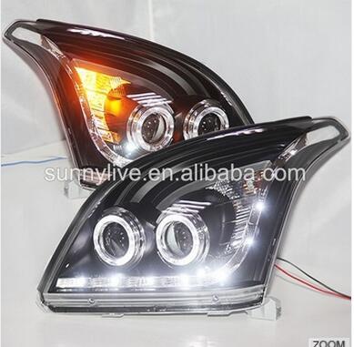 FJ120 LC120 Прадо 2700/4000 светодиодные лампы головного света для Toyota 2003-2009 год Черного В3