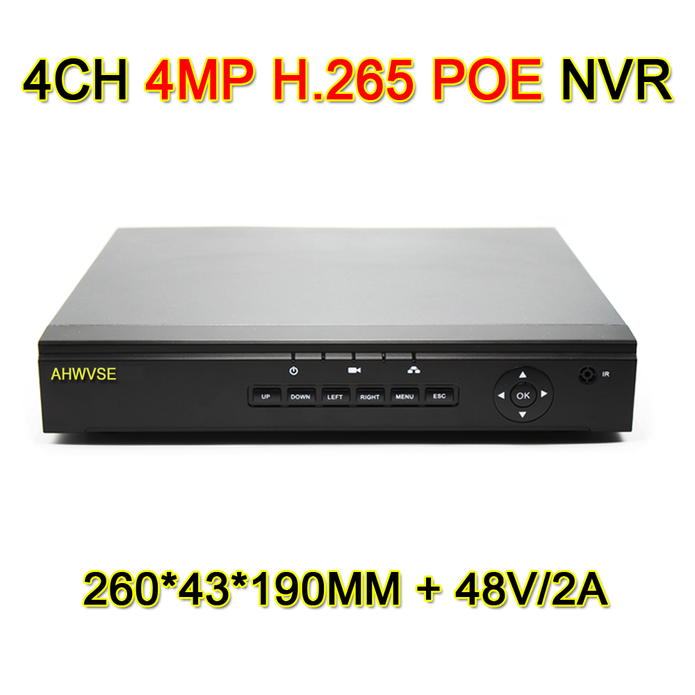 4MP POE NVR 4CH 8CH POE H.265 1080P CCTV Network Video Recorder IP Camera PoE HDMI NVR Support ONVIF XMEYE APP P2P цена