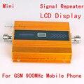 Display LCD!!! GSM Impulsionador 2G Cell Phone Signal Booster GSM 900 MHz Celular Repetidor de Sinal Amplificador de Celular cor amarela