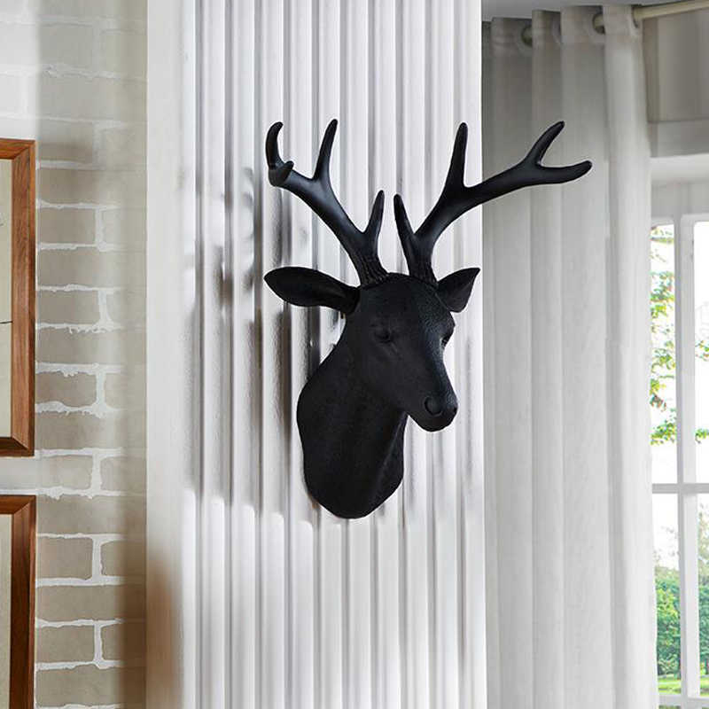 Modern Art Deer Head Wall Mounted Mini