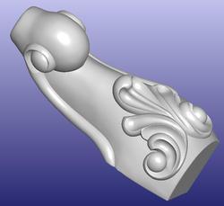 Мебель стол Кабинета диван ногу 3D модель STL файл формата ArtCAM 312