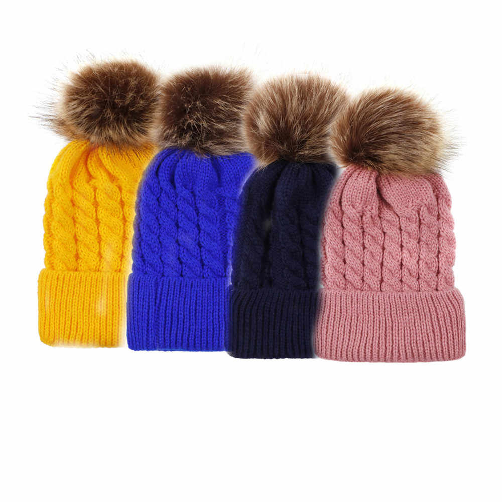 หมวกฤดูหนาวผู้หญิงหมวกชาย Skullies Bonnets น่ารักทารกแรกเกิดเด็กวัยหัดเดินเด็กทารกเด็กทารกเด็กฝ้ายหมวกฤดูหนาวหมวกอบอุ่น invierno
