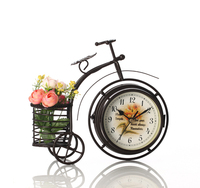 Watches Decoration Art Quartz Fashion Creative Modern Iron Art Clock Bicycle Quartz Clock Clock Mute Double