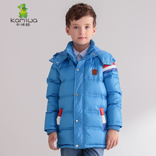 KAMIWA 2017 Colorful Stripe Baby Boys Winter Jackets And CoatsThicken Down Parkas Brand Hooded Children Clothes Kids Clothing