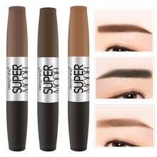 1 PC 2 in 1 Double-head Design Eyebrow Cream Mascara Combination Long-lasting Makeup No Blooming Waterproof make up Tool TSLM2
